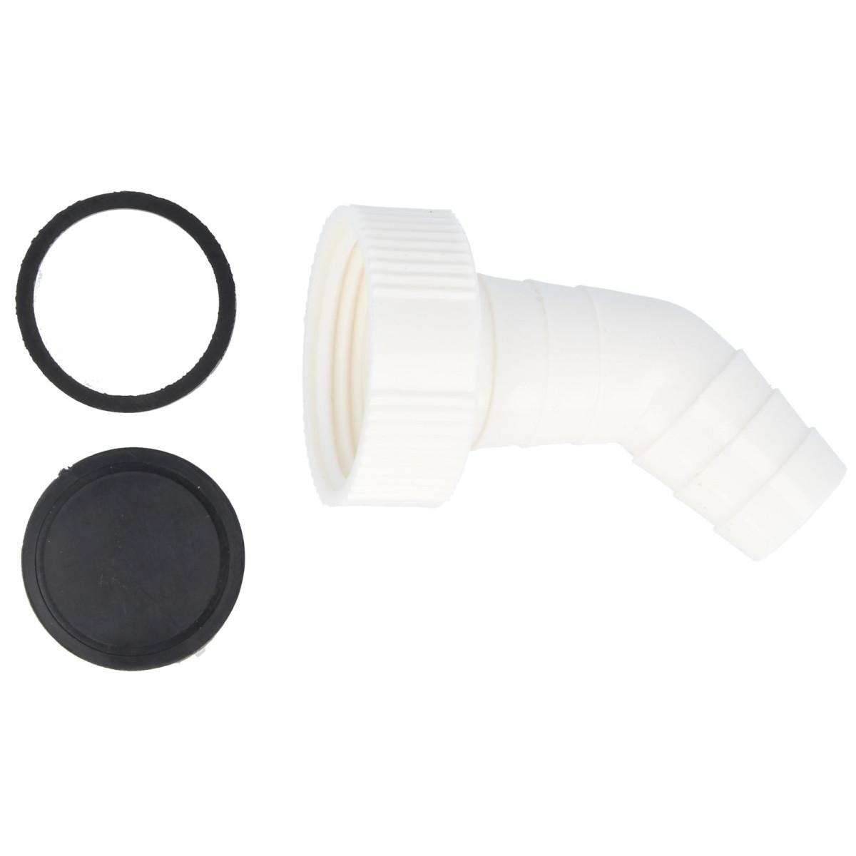 tecuro 166° Geräteanschlusstülle 16 Zoll für Küchen-Spülensiphon