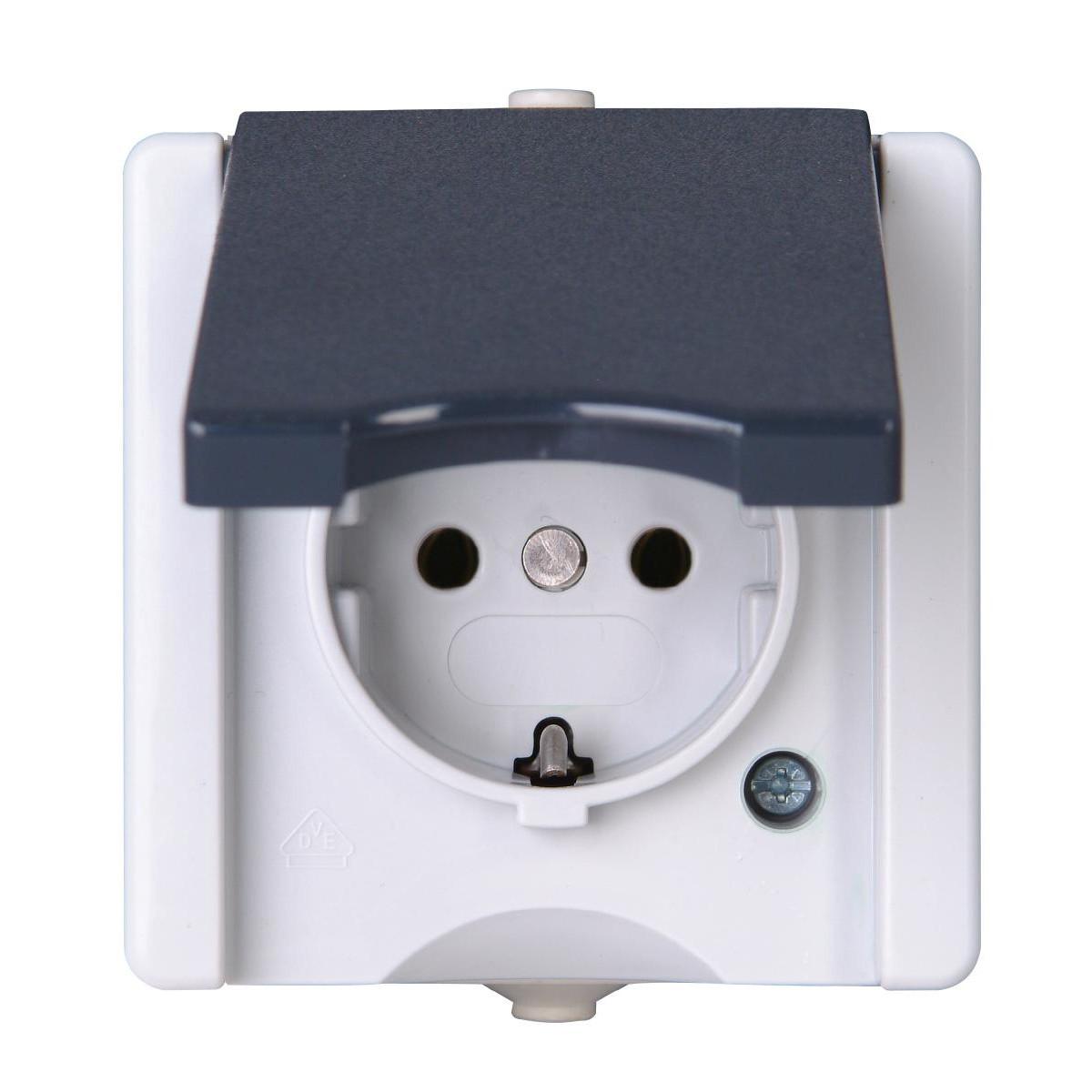 kopp feuchtraum schalter aufputz schutzkontakt steckdose. Black Bedroom Furniture Sets. Home Design Ideas