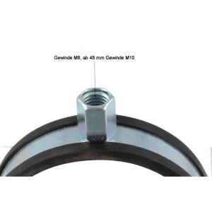 Schraubrohrschelle 63-67mm M8//M10 verzinkt Rohrschelle